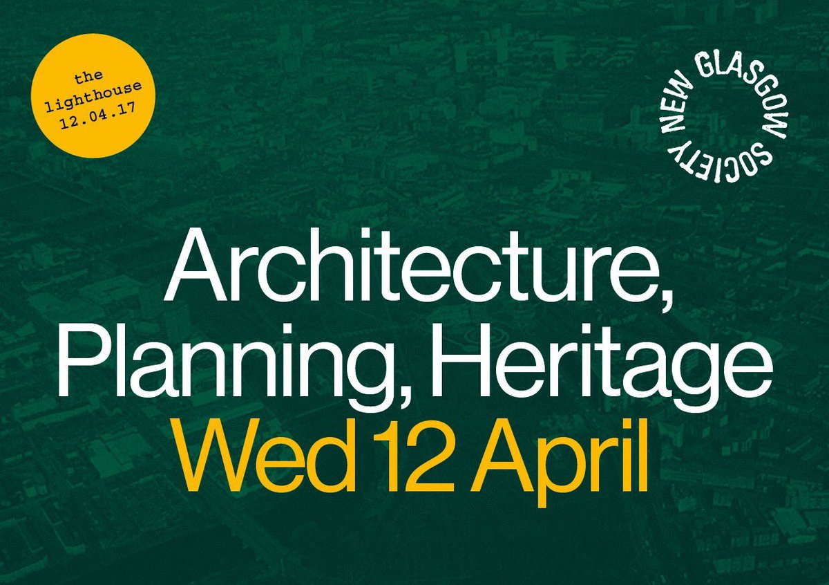 Architecture Planning & Heritage – A Hustings for Glasgow's Built Environment