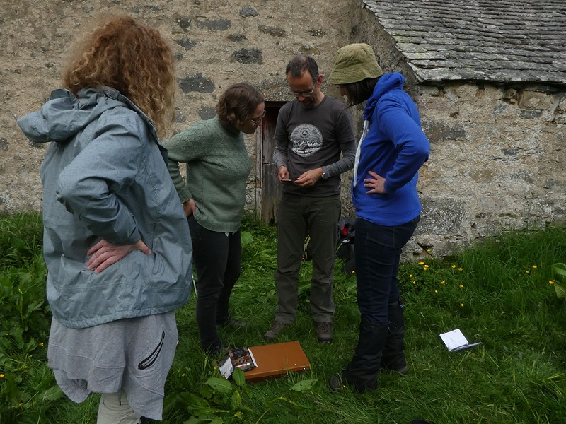 Reviewing recordings in the North Barn Scalan © GSA & HES