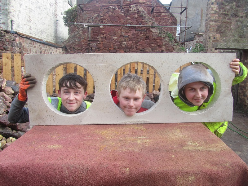 Apprentices in the stocks © The Ridge Foundations